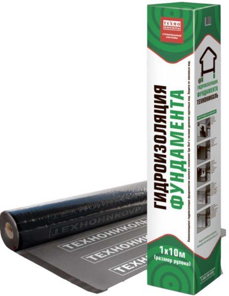В зависимости от ширины бывает отсечная гидроизоляция технониколь 600 или 400 мм