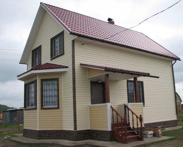 Отделка фасадов частных домов фото