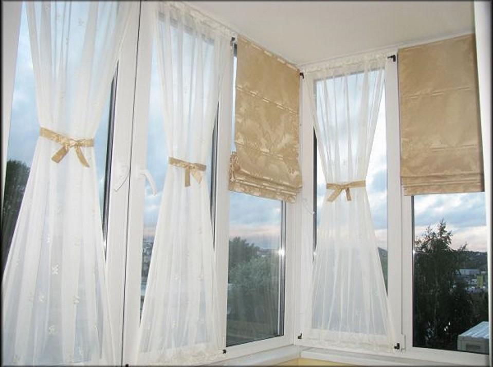 Декор балконов окна шторами. - дизайн штор своими руками, ка.