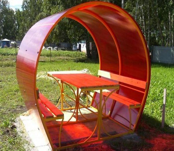 Беседка металлическая с поликарбоната