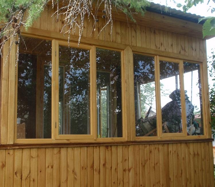 Как сделать окна на веранде