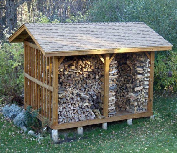 Как построить навес для дров