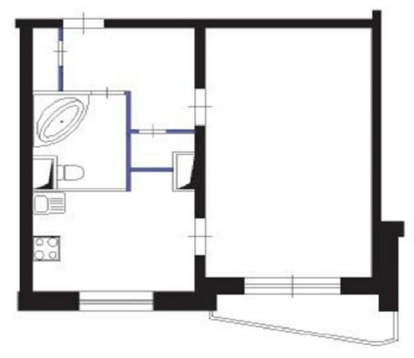Эскизный проект перепланировки квартиры образец