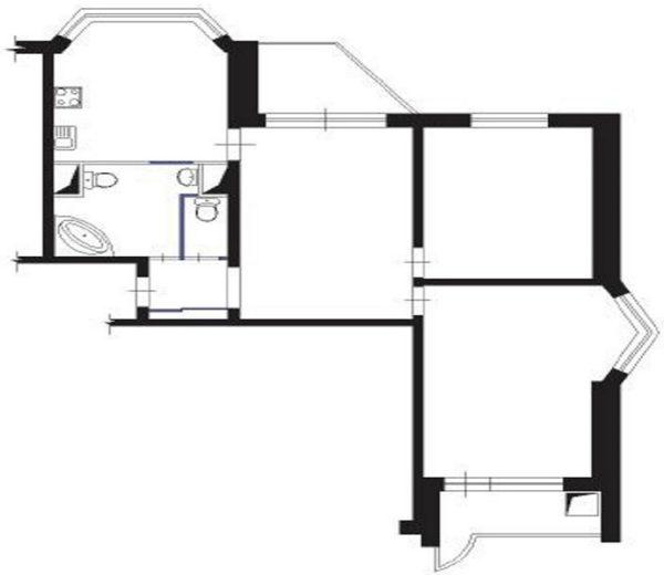 Дом серии П 44 перепланировка 3 комнатная