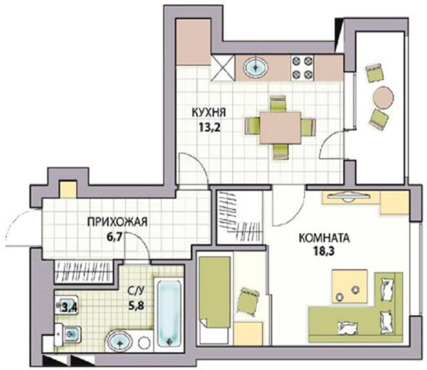 Варианты перепланировки хрущевки 3 комнаты