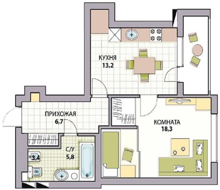 Планировка 3-х комнатной квартиры в (67 фото