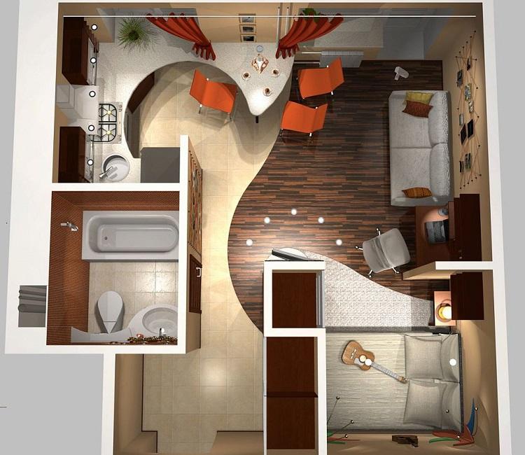 Дизайн трехкомнатных квартир в панельном доме серии П-44