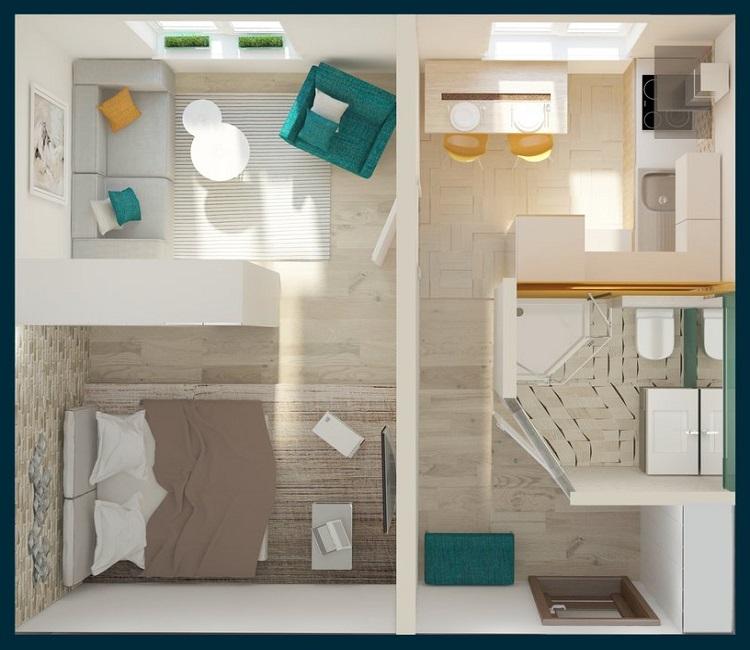 Дизайн однушки панельного дома