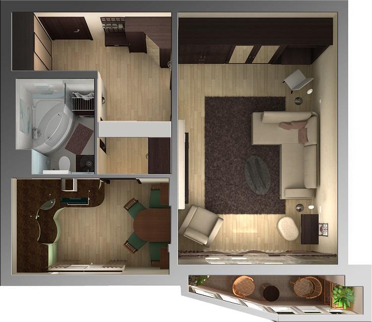Планировка квартир хрущевка 2 комнатная с расстановкой мебели