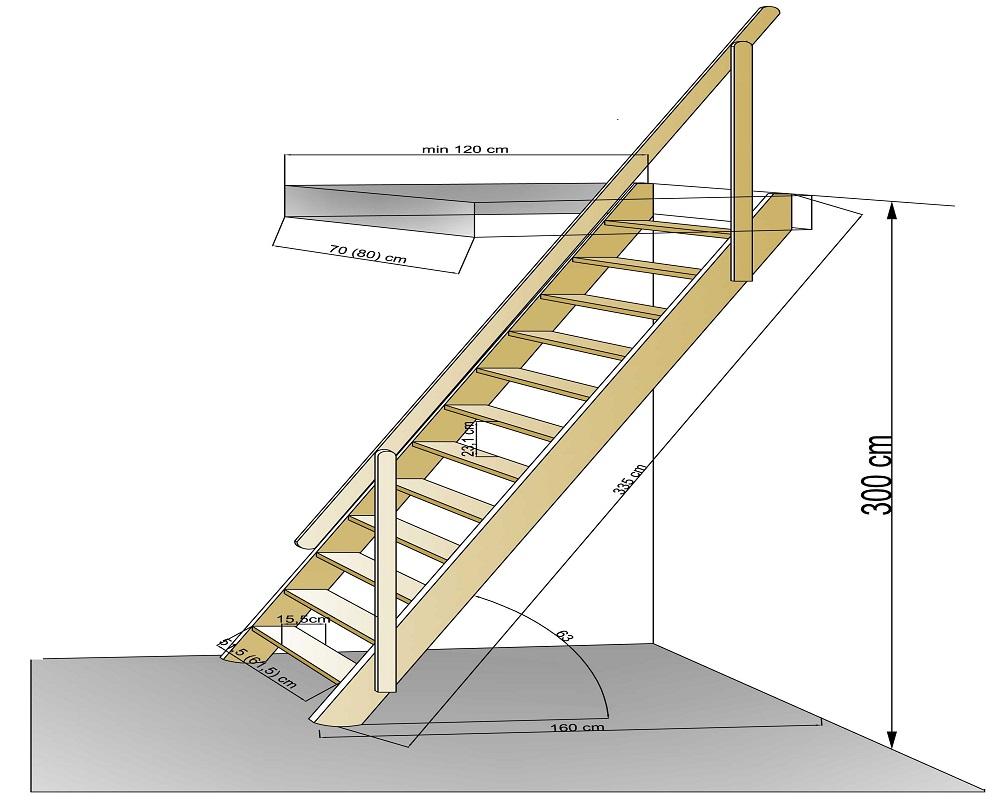 Лестница на мансарду своими руками схема 57