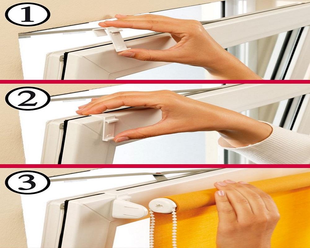 Как повесить жалюзи на пластиковые окна без сверления