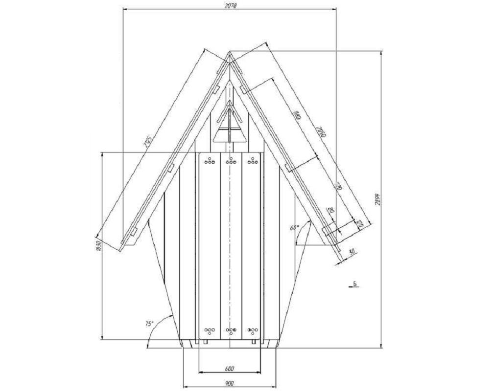 Теплый туалет на даче своими руками чертежи размеры 11