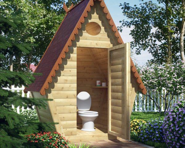 Необходим чертеж дачного туалета типа теремок
