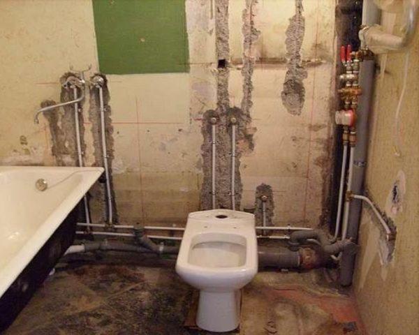 Схема канализационных труб в ванной и туалете