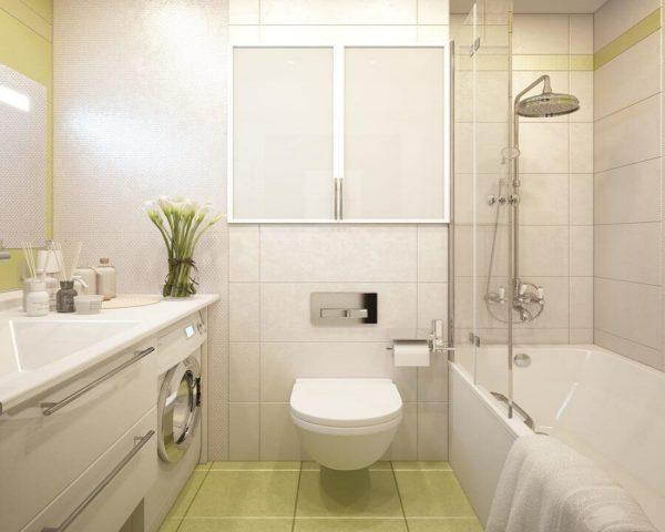Интерьер туалета с ванной фото