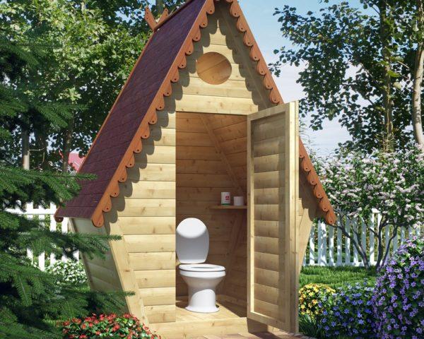 Как украсить дачный туалет фото
