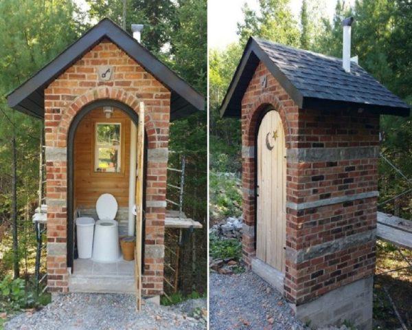 Строительство туалета на дачном участке из кирпича