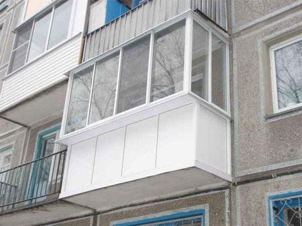 Остекление балконов окна