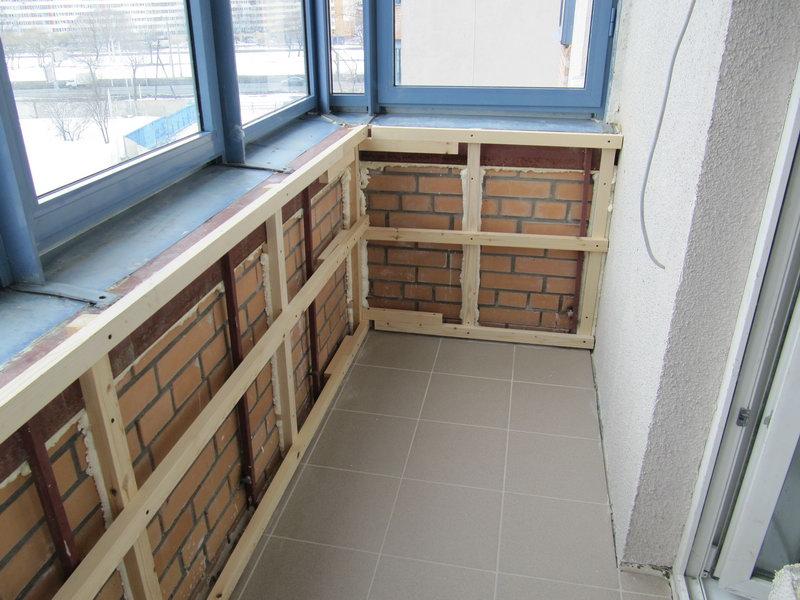 Обшивка балкона изнутри панелями своими руками