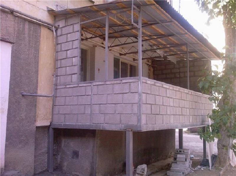 Строим балкон в частном доме. - дизайнерские решения - катал.