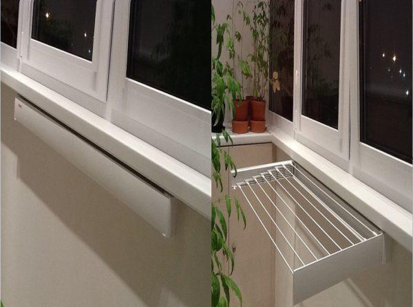 Закрепив веревки для белья на балкон можно на них сушить только что постиранное бельё