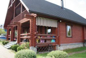 Поликарбонатная и раздвижная крыша для террасы