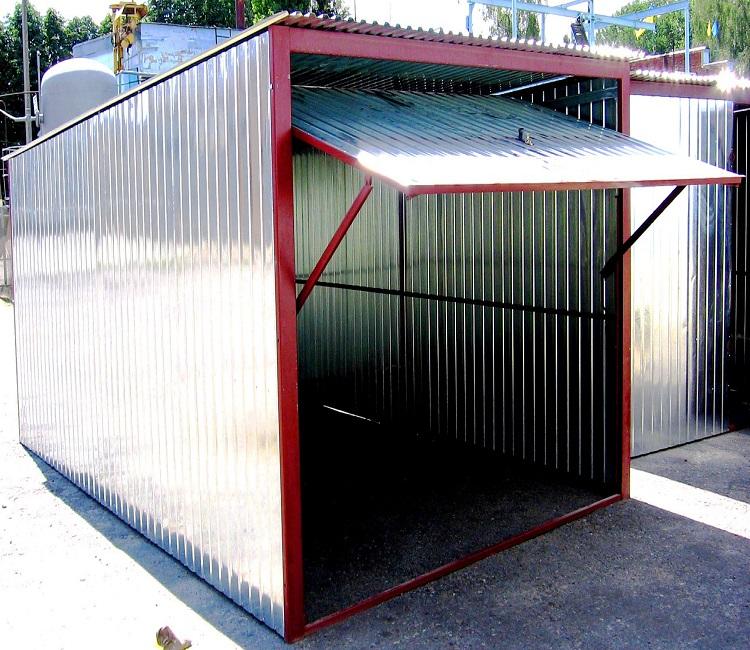 самодельный гараж из профнастила