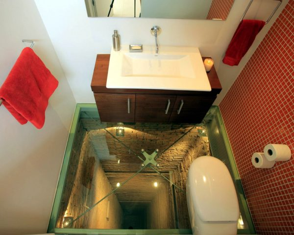 3д пол в туалете фото