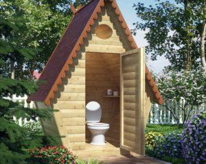 Как построить туалет Теремок