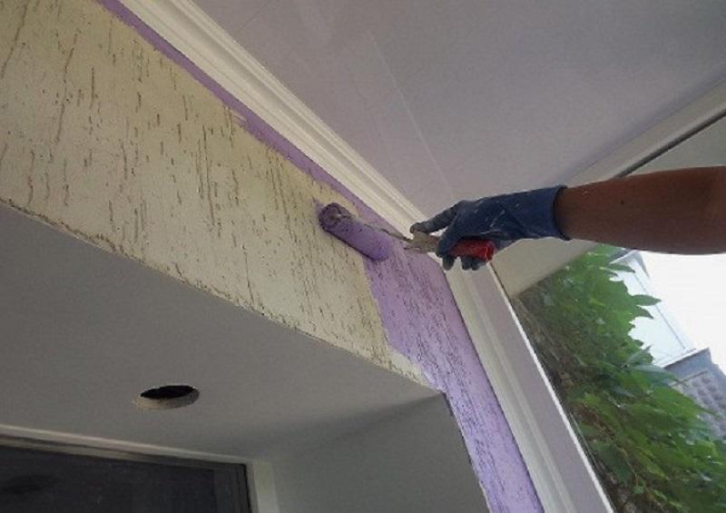 Как обделать балкон декоративной штукатуркой совет мастера.