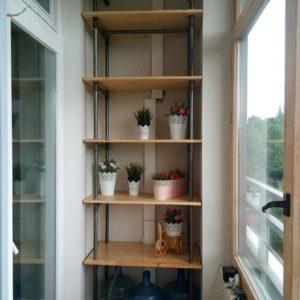 Как сделать стеллаж на балкон своими руками