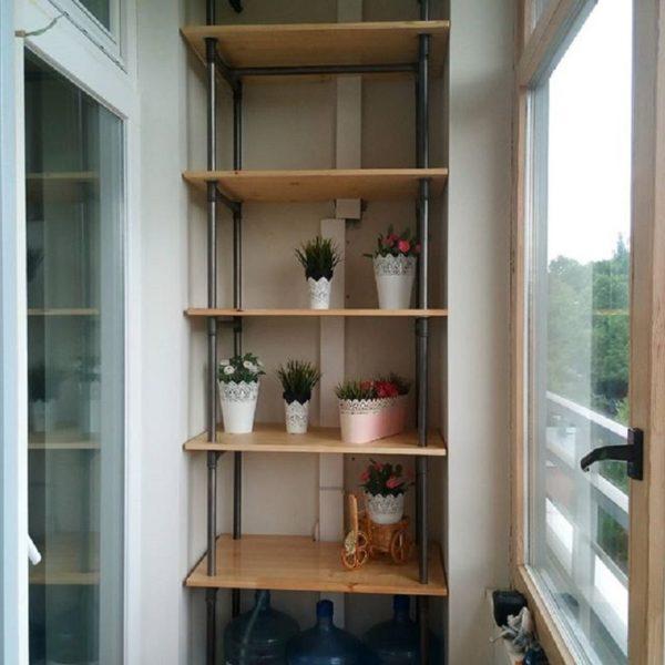 Рекомендуется сначала подготовить чертеж стеллажа на балкон