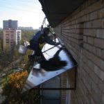 Навес над балконом фото