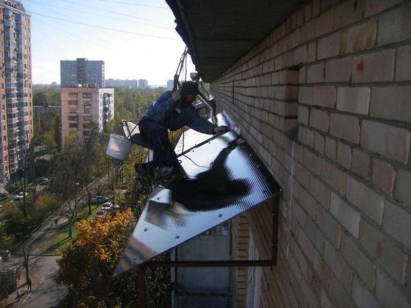 Балкон изготовление крыши.