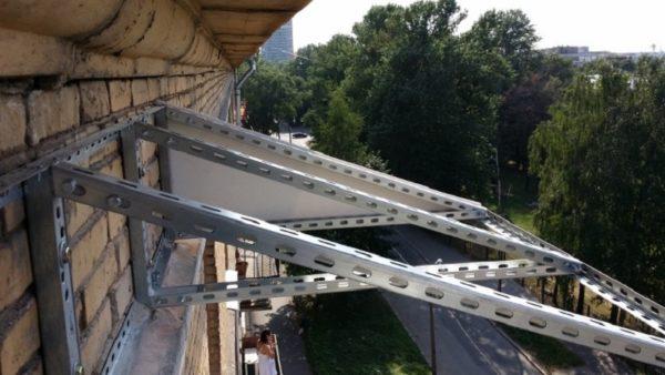Как сделать крышу на балконе 5 этажа