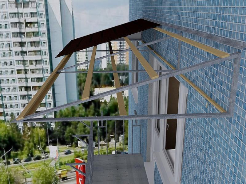 Крыша над балконом последнего этажа совет мастера.