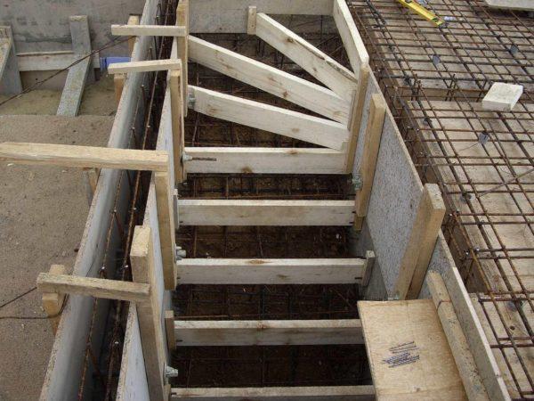 Круглое крыльцо из бетона своими руками
