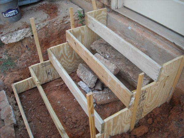 Лестница на крыльцо своими руками из бетона фото